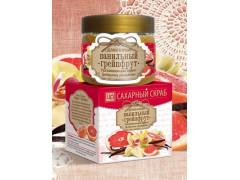 Сахарный скраб для лица и тела Ванильный грейпфрут, 400гр