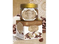 Сахарный скраб  для лица и тела Кофейный мусс, 400гр