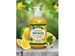 Безсульфатное жидкое мыло  Лимон, 460гр