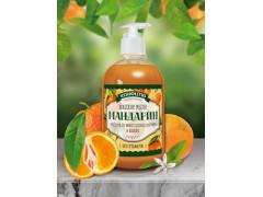 Безсульфатное жидкое мыло Мандарин,460 гр