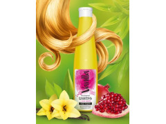 Безсульфатный шампунь с соком граната для ламинированных и окрашенных волос ,350гр