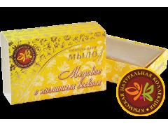 Мыло натуральное ручной работы Медовое с пчелиным  воском,75гр